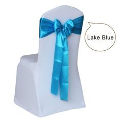 10pcs/lot Wedding Chair Cover Sash Bow Tie Ribbon Decoration Wedding Party Supplies 14 Color for Choose