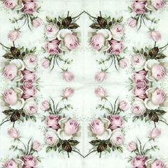 4x Single Table Party Paper Napkins for Decoupage Craft Vintage, Rose Bouquet |  | eBay!