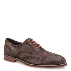 J Shoes Charlie Men's Chocolate Leather Suede Brogues   Buy Men's Leather Suede Brogues