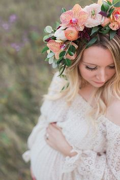 Flower crown maternity photos                                                                                                                                                                                 More