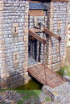 Large Dollhouse Miniature Medieval Castle Custom Replica ...