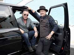 Bruce Springsteen and Danny Clinch attend the Grand