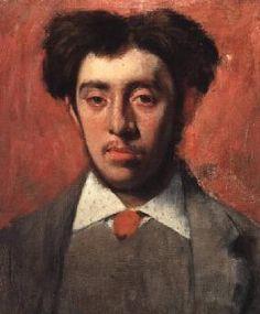 Edgar Degas - Portrait of Albert Melida