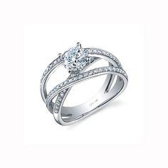 Unique+Modern+Diamond+Engagement+Rings | Sylvie unique engagement ring