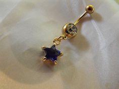 Royal Blue Sapphire Star18k Gold Plated Rhinestone by AGothShop, $18.00