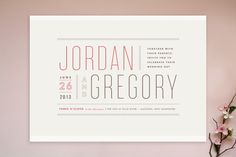Awesome typeface: Cyclone by Hoefler & Frere-Jones  Wedding Invitations by Jennifer Wick at Minted.com