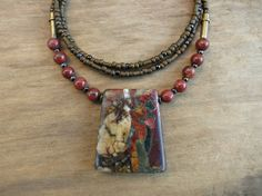 Picasso Jasper Necklace simple earthy jasper jewelry by ArtifactsEtCetera