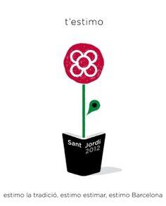 Cartell fantàstic de l'Ajuntament de Barcelona. Sant Jordi 2012