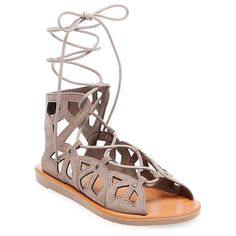 Women's Nadine Gladiator Sandals Mossimo Supply Co. - Grey 7.5