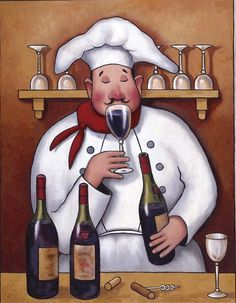 Chef tile murals Decorative tile for kitchens Chefs on tile Commercial tile for kitchens Fabric Painting, Oil Painting On Canvas, Fat Chef Kitchen Decor, Fat Art, Wine Photography, Pine Cone Crafts, Wine Art, Tile Murals, Decorative Tile