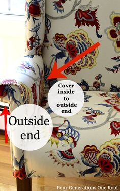 Learn how to reupholster a chair the quick, easy and inexpensive way. DIY tutorial and video to show you step by step how to reupholster a wingback chair. Reupholster Furniture, Furniture Repair, Upholstered Furniture, Furniture Makeover, Diy Furniture, Chair Makeover, Furniture Chairs, Dining Chairs, 1001 Palettes