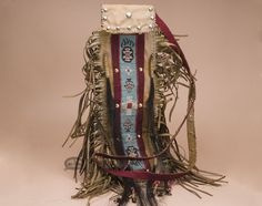 Old Style Native American Tigua Medicine Bag.  See more Native American items at www.missiondelrey.com