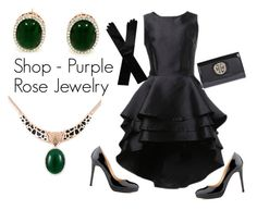 """""""Shop - Purple Rose Jewelry"""" by ladymargaret ❤ liked on Polyvore featuring moda, Boohoo y Dents"""