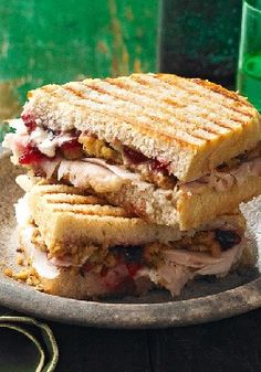 Leftover Turkey & Stuffing Panini – How good is this turkey and stuffing panini? So good you may want to make a roast turkey tonight, just so you can fix this with the leftovers tomorrow.