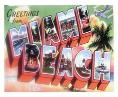 Sconto 82%. Miami beach. Stampa su tela
