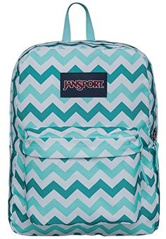 8f45a72eb958 JanSport Superbreak Backpack (Aqua Dash Zou Bisou) Школьные Сумки, Школьные  Вещи, Рюкзаки