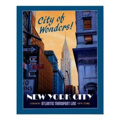 Faux Vintage NYC Travel Poster