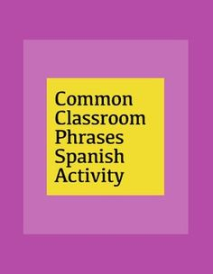 This activity includes one page with common classroom Spanish phrases and their English translations that can be used for beginner-level Spanish classes (Spanish 1-2).  The second page is only Spanish phrases, that is best used with intermediate to advanced students (Spanish 3-4).