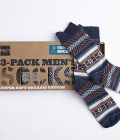 """Winter Sampler Sock Set from wearpact.com You can't go wrong with socks. Here's a stylish three-pack made from organic cotton by the good folks at Pact."""