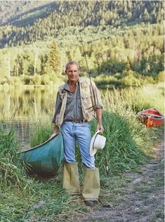 Why, yes, I'd love to go fishing with you, Kevin Costner. (Photo by by Melanie Acevedo)