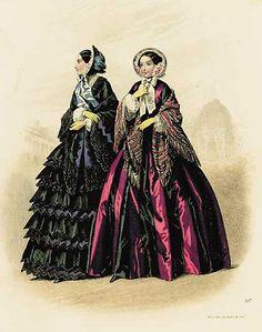 Victorian era fashion plate