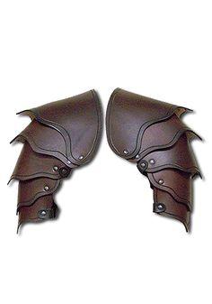 Larp shoulders - Dragon Warrior, brown - Shoulder & Neck - Leather Armour - Armour