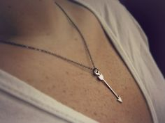 Silver arrow necklace - arrow jewelry - tribal jewelry - everyday necklace - mixed metals. $16.00, via Etsy.