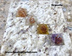 """Orgonite can work remarkably well on balancing all of the chakras, cleansing the aura and therefore improving both mood and health. It is often used to combat the effects of electromagnetic pollution or ""smog"" that arises out of electrical devices in and around our homes. Place a pyramid in your garden and notice the healthy growth that your plants/flowers/trees will experience. Use a pyramid in a child's room to alleviate nightmares. It can also help to relieve insomnia."" HCPIN10 = 10% off"
