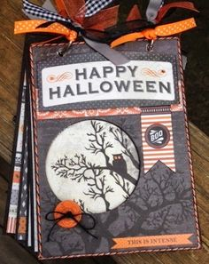 Artsy Albums Scrapbooking Kits and Custom Designed Scrapbook Albums by Traci Penrod: Happy Haunting Mini Album with Carta Bella + A GIVEAWAY. Halloween Mini Albums, Halloween Scrapbook, Christmas Scrapbook, Halloween Cards, Holidays Halloween, Trendy Halloween, Halloween Boo, Mini Scrapbook Albums, Scrapbook Paper