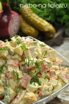 Seafood Recipes, Cooking Recipes, Healthy Recipes, Füllende Snacks, Seafood Salad, Vegetable Salad, Food Design, Food Inspiration, Great Recipes
