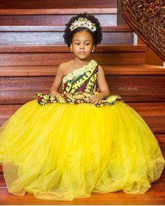2019 Lovely Ankara Styles for Children - Naija's Daily Ankara Styles For Kids, African Dresses For Kids, African Lace Dresses, Latest African Fashion Dresses, African Babies, African Wear, Kids Prom Dresses, Kids Dress Wear, Baby Girl Party Dresses