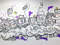 Leeds Digital Hub Murals - Get A Loada Geo