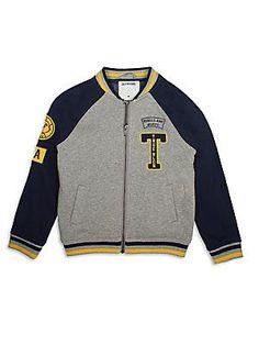True Religion Toddler's & Little Boy's Fleece Letterman Jacket
