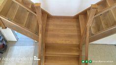 Oak treads, risers, newels and rails.