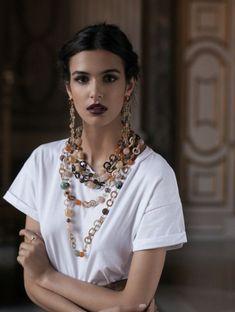Boho Fashion, Fashion Jewelry, Fashion Outfits, Womens Fashion, Fashion Design, Big Jewelry, Jewellery, Bohemian Style, Beautiful People