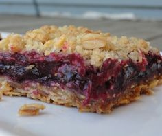 Made these last weekend and going to make more this weekend for a friends bday, Blueberry Rhubarb Bars... got to try them, I'm obsessed!