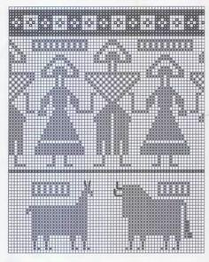 Knitting Charts Fair Isle Cross Stitch Ideas For 2019 Crochet Edging Patterns, Crochet Amigurumi Free Patterns, Crochet Mittens, Filet Crochet, Cross Stitch Patterns, Crochet Gifts, Crochet Lace, Knitting Charts, Knitting Socks