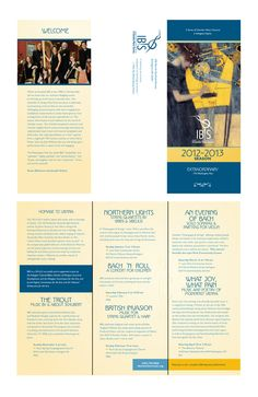 Trifold Brochure – IBIS was founded in Florida by Joseph Scheer and Susan Robinson. Now residents of Arlington, Virginia, Joe is the concertmaster of the Boston POPS Esplanade Orchestra, and Susan is the principal harpist of the Kennedy Center Opera House Orchestra and the Boston Pops Esplanade Orchestra. Joe and Susan will be joined this season by colleagues from the Kennedy Center Orchestra and the National Symphony Orchestra on flute, violin, viola, cello and piano.