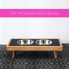 How to: Make a DIY Modern Raised Dog Bowl » Curbly | DIY Design Community