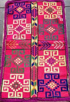 Patron punto cruz alfombra etnica calipso cafe para bordar - Alfombras dibujos geometricos ...