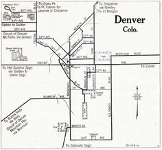Golden Triangle, Blue Books, Historical Maps, Denver, Colorado, History, Crafty, Google Search, Historia