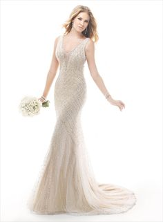 Spencer - by Maggie Sottero :: 1920's art deco great gatsby wedding dress