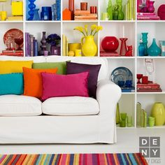 Daily Digs | Technicolor Dream Room #color #rainbow #bold