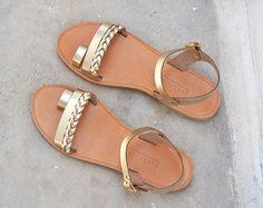 Sandales en cuir sandales grecques sandales sandales