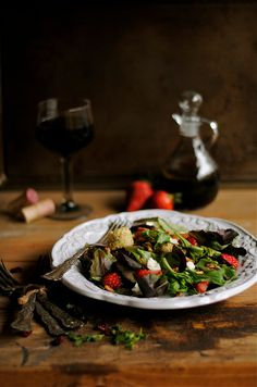 Strawberry, Pecan, & Mixed Green Salad with Balsamic Vinaigrette   How To: Simplify