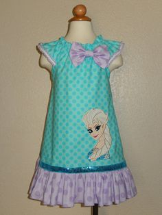 Elsa Frozen , Flutter Sleeves Dress on Etsy, $35.00