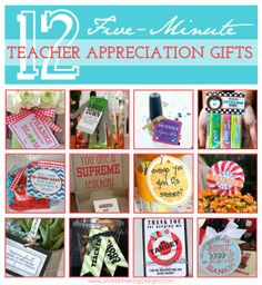 Need a last minute teacher gift? Lots of great ideas to show your child's teacher how much you appreciate them! #teacherappreciation