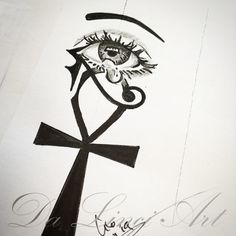 Eye Tattoo All Seeing Doors Trendy Ideas Ankh Tattoo, Horus Tattoo, Feminine Tattoo Sleeves, Feminine Tattoos, Family Tattoo Designs, Family Tattoos, Fine Line Tattoos, Body Art Tattoos, Drawing Sketches