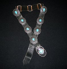 Vintage Native American Turquoise and Sterling Silver Concho