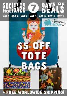 This Thursday is Tote Bags day! Take $5 OFF on Tote Bags from Pommy New York + Free Worldwide Shipping. Click here: http://society6.com/pommy/bags